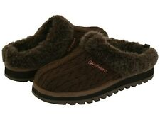 Skechers Keepsakes 'Postage' Ladies Chocolate Sweater Clog w/Faux Fur(See Sizes)