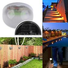Outdoor Garden Solar Powered LED Post Deck Wall Fence Path Light Landscape Lamp
