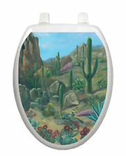 Desert Oasis Toilet Tattoo  Removable Reusable Bathroom Decoration