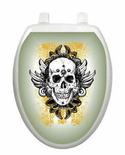 Skull Grunge Toilet Tattoo  Removable Reusable Bathroom Decoration