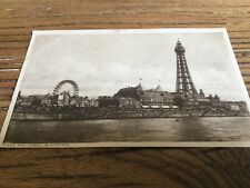 Old Postcard Tower And Wheel Blackpool
