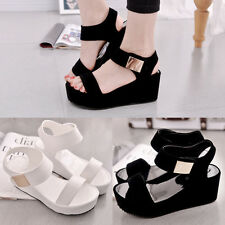 Women's Popular Spring New Fashion Muffin Thick Bottom Slope High-heels Sandals