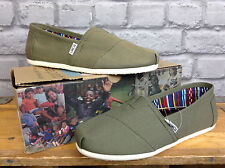 TOMS MENS CLASSIC CANVAS KHAKI FLATS CASUAL SHOES BEACH SUMMER ALL SIZES