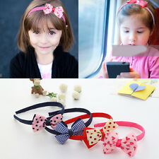 Delicate Baby Kids Girls Big Bow Tie Hair Band Headband Party Wedding Accessory