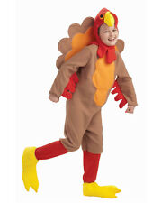 Child's Fleece Thanksgiving Turkey Bird Mascot Costume