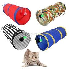 Cat Kitten Play Tunnel Playground Toy Outdoor Hiding Rolling Fun Tube Folding
