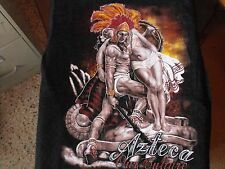 Black AZTECA OUR CULTURE Mexican, Warrior, Princess Low Rider t-shirt.