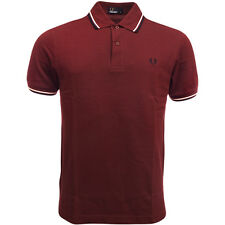 Mens Fred Perry Polo Shirt Original M1200 Standard Fit Port