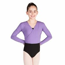 Cotton BALLET CARDIGAN Crossover Lavender Warm Up Ballet Top By Dancing Daisy