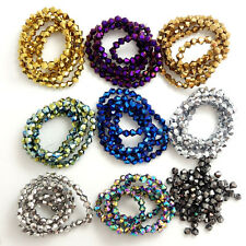 Wholesale Bicone Faceted 5301# Crystal Glass Loose Spacer Beads 3mm/4mm/6mm