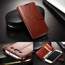 "Magnetic Card Pocket Leather Case Cover For 4.8"" Samsung Galaxy SIII S3 i9300"