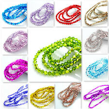 Wholesale new colors 200pcs bicone crystal glass loose spacer beads 4mm