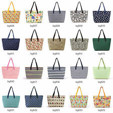 20 Styles Womens Canvas Large Tote Bag Shopping Shoulder Hobo Handbag