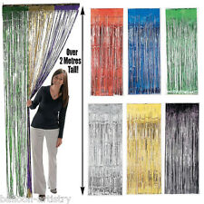 Metallic Foil Tinsel Doorway Curtain - Birthday Party Hanging Decoration