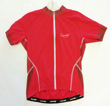 Women's Monella Short Sleeve Cycling Jersey - in Red - Made in Italy by Santini