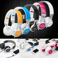 New Stereo Headband Headphones Headset Earphone With Mic For Smartphone MP3/4 PC
