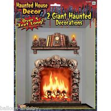 Halloween Spooky Haunted Mansion Fireplace Wall Decoration Decal Scene Setter
