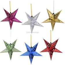 10Pcs Star Paper Lantern Lampshade Ceiling Light Shade Holder Party Xmas Decor