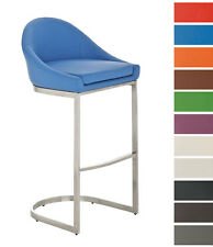 Bar stool CRETE Faux Leather Breakfast Kitchen Barstools Various Colours Chair