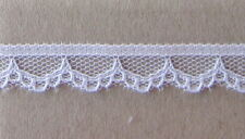 CRAFT-SEWING-LACE 11mm White,Black Scallop(Mtr Variations Listed)