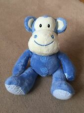 NEXT BLUE MONKEY CHIMP SOFT HUG TOY COMFORTER SOOTHER !FREE P&P!