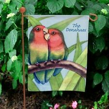Personalized Love Couples Garden Flag Love Birds Flag Garden Decor Yard Flag