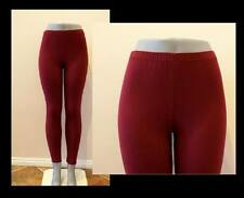 BURGUNDY PANT LEGGINGS STRETCH WORKOUT DANCE S, M, L, XL, 2X, 3X PLUS