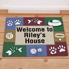 Personalized Cats House Doormat Cat Lover Welcome Doormat Custom Name Door Mat