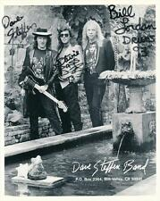 Dave Steffen Band- 8X10 Signed Photograph