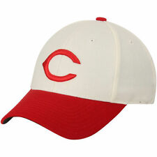 American Needle Cincinnati Reds Tan/Scarlet Cooperstown Fitted Hat