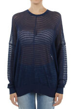 CHLOE Women Long Sleeved T-Shirt blue Made in Italy New
