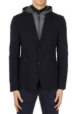 PRADA Men New Black Blazer Jacket with Removable Hooded and zippered insert