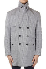 GUCCI Men Nylon Checked Trench Coat Made in Italy New with Tag Original