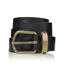 MARTIN MARGIELA MM11 Men Black Vintage Leather Belt Made in Italy New with Tag