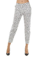 DOLCE & GABBANA Women Polka Dots Printed Cotton Capri Pants Made in Italy