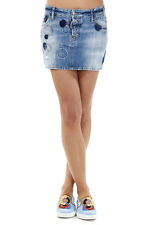 DSQUARED2 Dsquared² Women Blue Cotton Denim Destroyed Miniskirt Italy Made