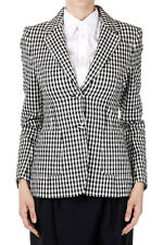 ALTUZARRA Woman Gingham-Print Seersucker Blazer Checked Cotton Italy Made