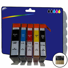 1 Set of Chipped non-OEM Printer Ink Cartridges for HP 364 Range [364 x5]