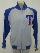 Texas Rangers Men's M, L, XL, 2XL Full-Zip Dugout Cloth Jacket MLB Gray A14TLM