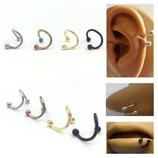 10Pcs Stainless Steel Twist Nose Lip Eyebrow Cartilage Ring Earring Piercing Lot