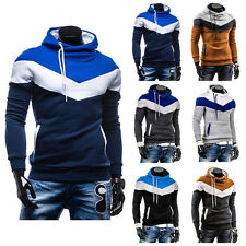 Fashion Mens Casual Warm Hoodies Slim Fit Hooded Thick Fleece Sweat Coat Jackets