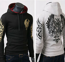 New Mens Pullover Slim Fit Sexy Designed Hoodie Casual Hooded Jackets Coats Tops