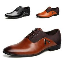 Men Business Lace Up Pointy Toe Dress Formal Leather Flat Oxfords Loafers Shoes