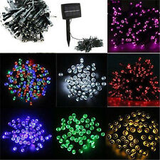 100 LED 12M Solar Powered Fairy String Lights Garden Christmas Outdoor Party New