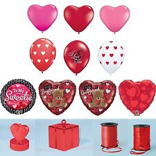 VALENTINES DAY - Latex & Foil Balloons, Ribbon, Weights, Confetti   Qualatex