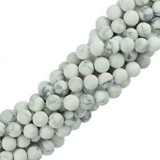 """6mm 8mm Craft Natural White Howlite Turquoise Gemstone Loose Beads 15"""" Strand"""
