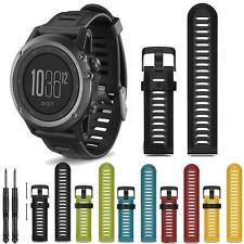 7 Colors Silicone Strap Replacement Watch Band With Tool Kits For Garmin Fenix 3