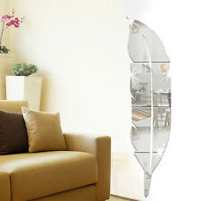 Gold/Silver Acrylic Removable Mirrored Wall Stickers Vinyl Art Home Room Decor