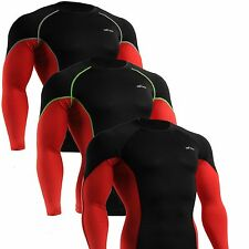 EMFRAA mens base layer skin compression tight clothing running mma shirts  S~2XL