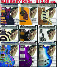 EASY GUITAR LESSON DVDS: Blues Rock Metal Acoustic Scales Chords Tricks Theory